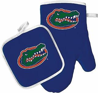 Pro Specialties Group 烤箱手套和锅架套装 – 烧烤厨房后院户外– NCAA – 佛罗里达短吻鳄队
