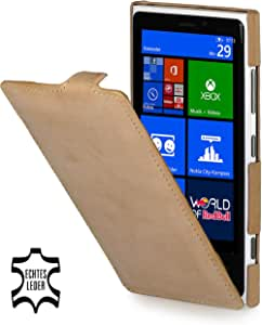 StilGut 超薄,诺基亚 Lumia 920 真皮手机壳 Old Style Sand Beige