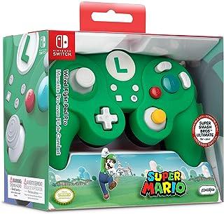 Nintendo 任天堂 Switch PDP (NS - Luigi - EU) Fight Pad Pro 马里奥兄弟有线手柄