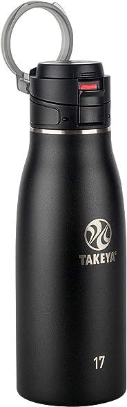 Takeya 隔热旅行杯 玛瑙黑 17 盎司