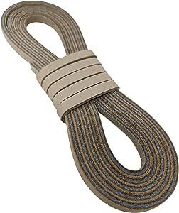 皮革绳和系带,带 0.64 x 182.88 厘米,用于棒球手套和垒球手套系带或工艺项目 Neutral leather strap 1/4