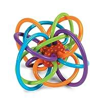 Manhattan Toy Winkel 曼哈顿玩具 曼哈顿球 固齿器 磨牙 摇铃和感官牙胶活动 幼儿乳牙训练手抓球(品牌直供 )