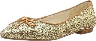 [东方领带] 浅口皮鞋 芭蕾舞鞋 女士 尖头鞋 平底 大码 小号 易于行走 1105