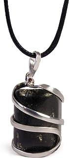 原黑色电气石水晶*吊坠项链 – 保护负能洁面乳天然压力帮助舒缓心灵情绪 – 正品包装滚石脉轮*吊坠