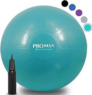 SmarterLife Products PRO MAX 健身球 - 专业级超厚瑜伽球,用于平衡、稳定性、健身、普拉提、生日*、办公椅、教室灵活座椅