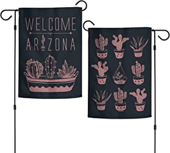 WinCraft Destination 亚利桑那州/亚利桑那州花园旗 2 面 31.75 厘米 x 45.72 厘米州/亚利桑那州花园旗 2 面 31.75 厘米 x 45.72 厘米,多色,NA