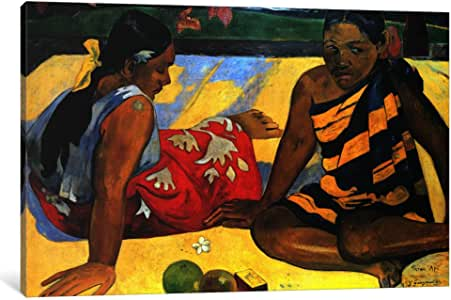 "iCanvasART 1 Piece Two Women Sitting Canvas Print by Paul Gauguin, 40"" x 26""/0.75"" Depth"
