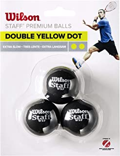 Wilson Staff Double Dot Squash 3 球,件 3 球