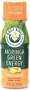 Kuli Kuli Moringa Green Energy Shots, Ginger Lemon, 2.5 Ounce Shots (12 Count), Natural Energy from Green Tea & a Leafy Green Superfood, Contains Caffeine, Equals Half a Cup of Leafy Green Vegetables