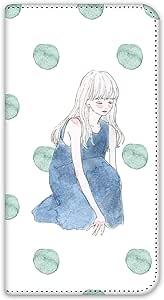 卡丽 壳 双面印刷手册 坐姿女孩 智能手机壳 手册式 对应全部机型 座る女の子C 4_ AQUOS L SHV37