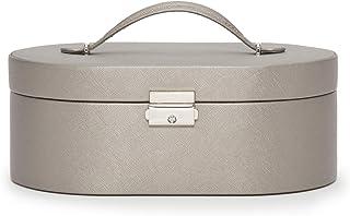 WOLF Heritage 椭圆形首饰盒,青灰色十字纹