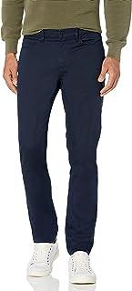 Perry Ellis 男式修身 5 口袋弹力提花裤