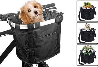 DLYZHUA 防水帆布自行车前置手提袋户外包包包包(黑色,33 x 24 x 25 厘米)