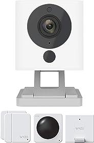 Wyze Cam 1080p 高清室内无线智能家用摄像机,带夜视功能WYZEC2WHSK1 One-Pack + Sense Starter Kit