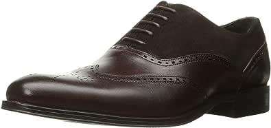 Stacy Adams 男式 Stanbury 翼纹牛津鞋 棕色 9.5 W US