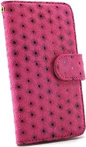 whitenuts 保护套翻盖式小波点图案 粉色 3_ Galaxy S7 edge SCV33