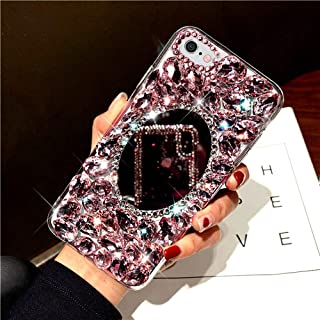 iPhone 6S Plus/6 Plus 手机壳,3D 手工制作闪亮水钻钻石奢华闪耀镜面手机壳女孩女士全水晶闪亮钻石手机壳适用于 iPhone 6S Plus 镜面手机壳,