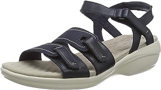 Clarks 女士 Alexis Shine 系带凉鞋