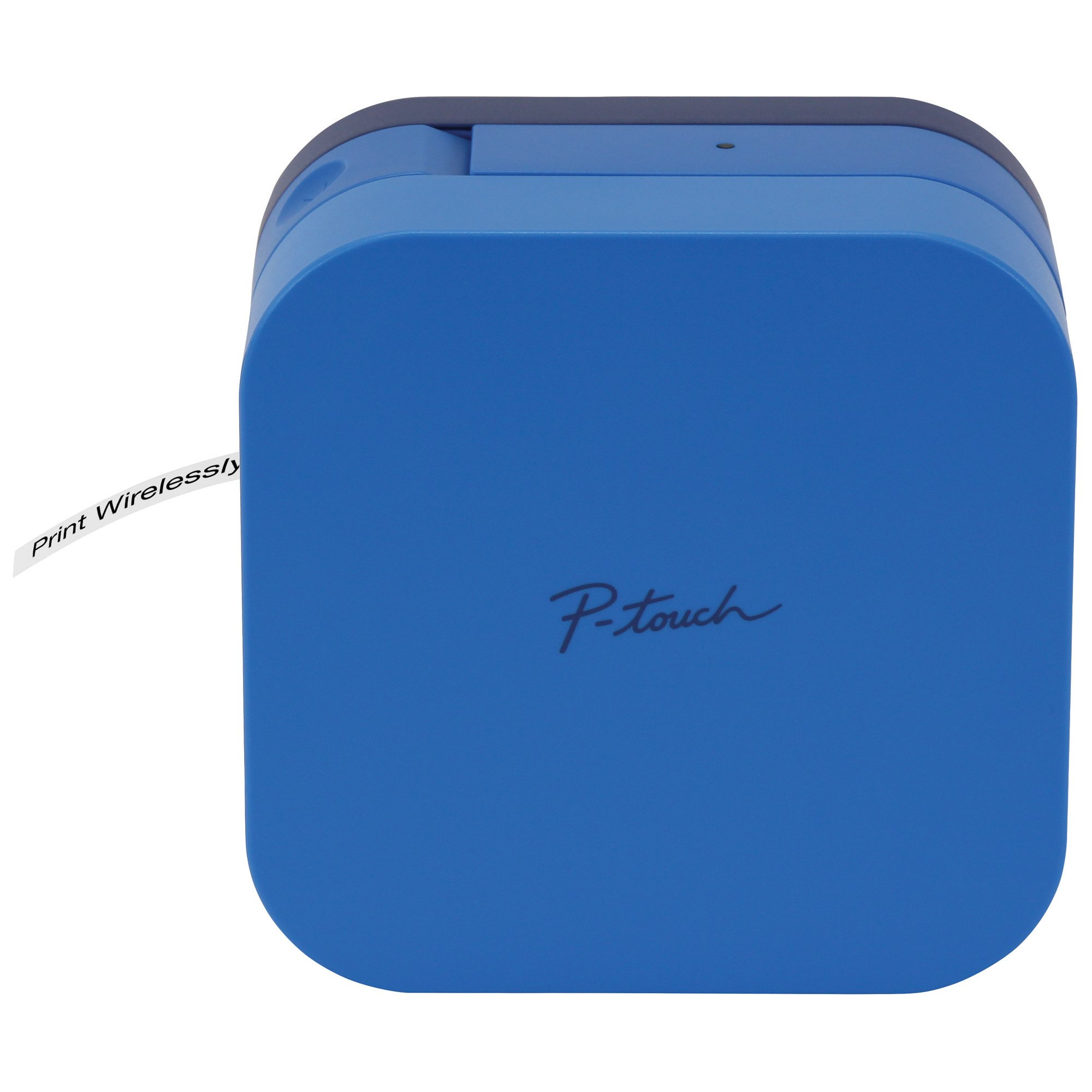 兄弟の弟P-touchのキューブスマートフォンラベルメーカー、ブルートゥースワイヤレス技術は、AppleとAndroidに対応して使用可能なテンプレートの様々な、 - ブルー