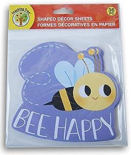 """教学树纸形状装饰纸 - """"蜜蜂快乐"""" - 36 张"""
