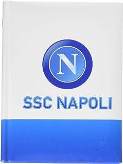 ssc napoli Diario 口袋12米 拿波利,11.5 厘米 X 15.9 厘米书包套装,16 厘米 White, Baby Blue White, Baby Blue