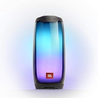 JBL Pulse 4 防水便携式蓝牙音箱带灯光显示 - 黑色