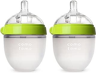 Comotomo可么多么 自然感覺嬰兒奶瓶,雙個 綠色,150毫升(5盎司)