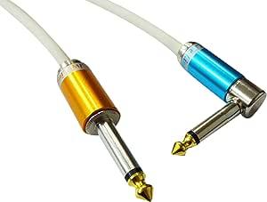 【Live Line】Advance系列 8M S/L 插头 白色电缆 S型插头(橙色)-L型FIT插头(蓝色)定制品 AELLLAWH08MSLFOrBl
