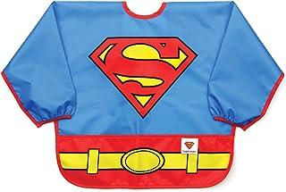 Bumkins DC漫画 超人 有袖围兜/婴儿围兜/幼儿围兜/罩衫 防水 耐洗 不沾污 防臭 适用于6-24个月宝宝