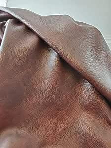 NAT Leathers 勃艮* 22 至 24 平方英尺(22-24 平方英尺(81.28 厘米 x 139.7 厘米))周末双色软内饰片意大利牛皮真皮隐藏大牛皮 棕色 12 inch x 20 inch cut bordoold