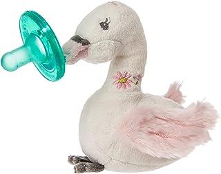 Mary Meyer WubbaNub 嬰兒安撫奶嘴,帶毛絨玩具 ~ 閃亮天鵝