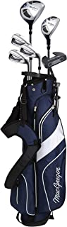MacGregor CG2000 高尔夫球棒套装,带包,男士和女士,钢,黑色