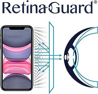 RetinaGuard iPhone 11 防蓝光屏幕保护膜(6.1 英寸),SGS 和 Intertek 测试,阻挡过多的有害蓝色光,减少眼部*和眼部*