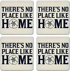 """杯垫吸水杯垫(4 件套) No Place Like Home Sand Dollar 4-1/4"""" LJ0100"""