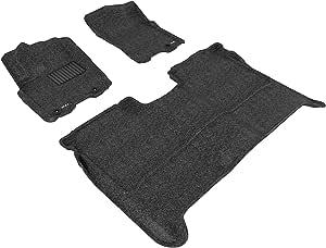 3D MAXpider 定制全套脚垫套装 适用于部分日产 Titan Crew Cab 型号 - 经典地毯 黑色 L1NS06302209