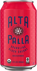 Alta Palla Black Cherry Certified Organic Sparkling Juice, 12 Fluid Ounce Cans, 8 Count