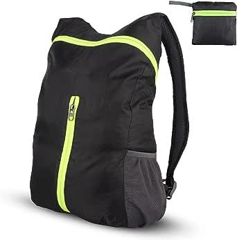 超轻可收纳背包防水耐用中性款 18 升日背包旅行骑行学校徒步露营