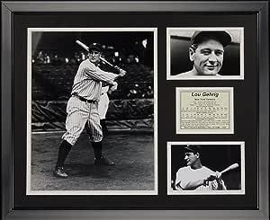 Legends Never Die Lou Gehrig 带框照片拼贴,40.64 厘米 x 50.80 厘米