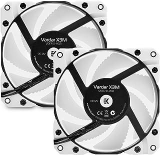 EK-Vardar X3M 120ER D-RGB (500-2200rpm) - 白色 2 件装