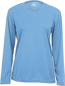 Badger Sportswear 女士 B-Dry 长袖 T 恤 X-S 蓝色 4164