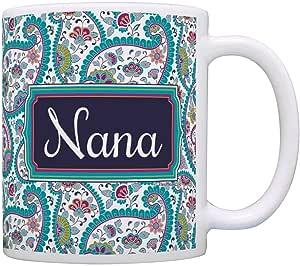 母亲节礼物 生日礼物 礼物 咖啡杯 茶杯 Paisley 11 盎司 A-P-S-M11-0065-01