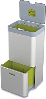 Joseph Joseph 智能 Totem分类和回收垃圾桶 4升垃圾小盒单独出售 银色 60 升