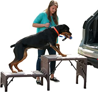 Pet Gear Free-Standing Foldable Pet Stair, Chocolate