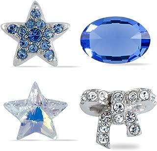 施华洛世奇宝藏套装透明蓝色水晶 4 件套 5071289