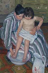 "Get Custom Art Mary Cassatt - The Childs 浴盆 非帆布海报印刷品 16"" x 24"" MCassatt-ChildsBath-16x24-PP"