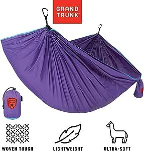 大公园单降落伞尼龙吊床带登山扣和悬挂套件:- 非常适合户外冒险、背包和节日