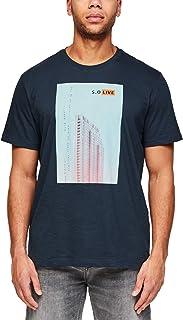 s.Oliver 大码男式 T 恤 Kurzarm 标准剪裁