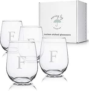 交织无*杯4件套,*杯,带砂岩字母插画,481.28 克每杯容量 F