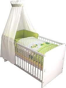 Kuli-Muli 20723 婴儿完整床套装 Willy 90/120 厘米 4 件套,蛋壳颜色