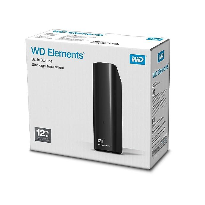 Western Digital WD 西部数据 Elements 桌面硬盘 12TB ¥1317